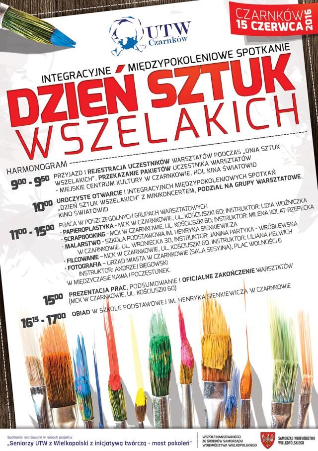 PLAKAT dzien sztuk wszelakichi UTW 2016 NET